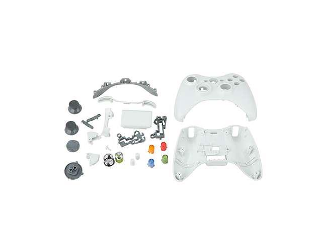 White Replacement Xbox 360 Controller Shell + Buttons