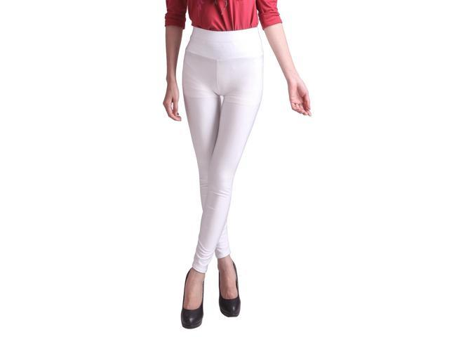 Sexy Womens High Waist Nylon Spandex Leggings Tights Pants - White ...