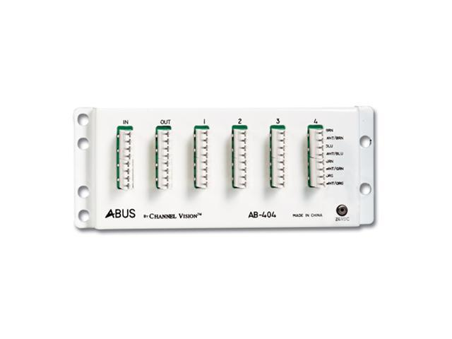 Channel Vision A-BUS Audio Distribution Hub, 1 Source/4 Zones (AB-404)