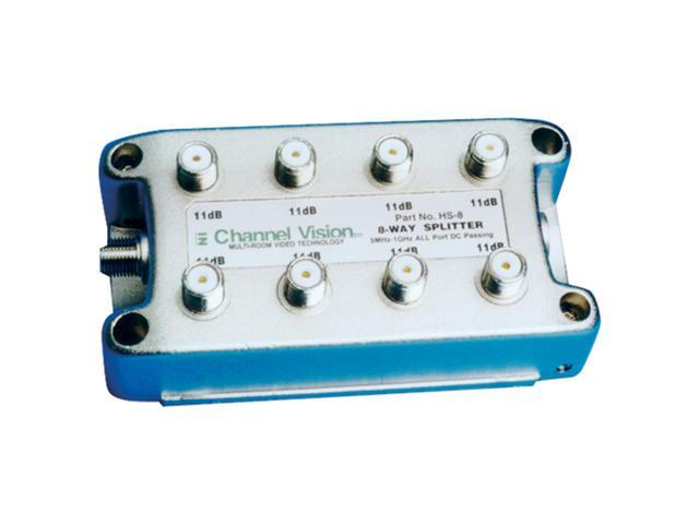 Channel Vision Splitter/Combiner, 1GHz, DC, 8-Way (HS-8)