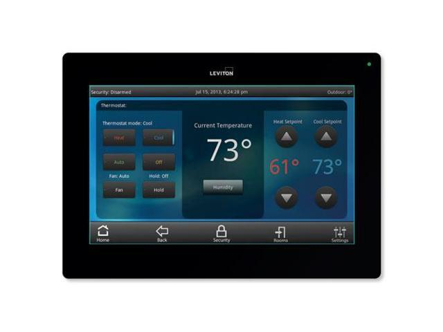 Leviton OmniTouch 7 Security & Automation Color Touchscreen, Black ...