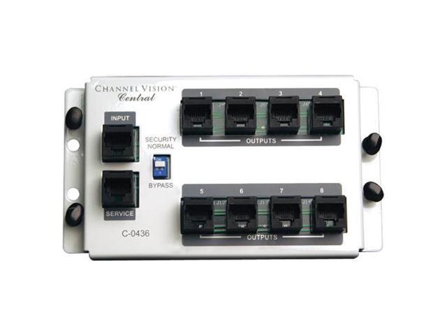 Channel Vision 4x8 RJ45 Telecom Distribution Module (C-0436)