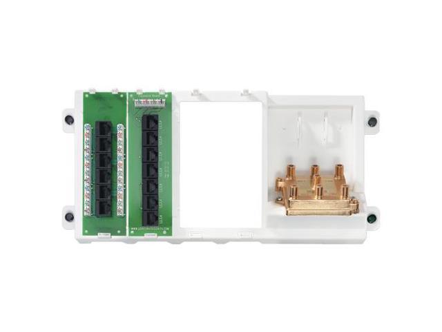 Leviton 47606-BNP Basic Home Networking Panel Plus