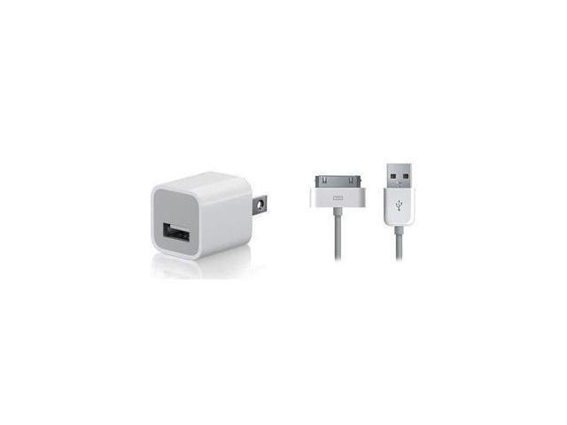 New Original/Authentic OEM Apple Premium USB Data Cable+Wall/Home Charger Power AC Adpater For iPhone 2G/3G/3GS/4/4S iPod Touch 1G 2G 3G 4G iPod Nano  1G 2G 3G 4G 5G 6G