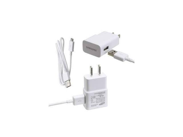 Brand New Original OEM Samsung Premium High Power 2.0 Amp White USB Cable With Wall/Home Charger Adapter ETA-U90JWE For Samsung ...