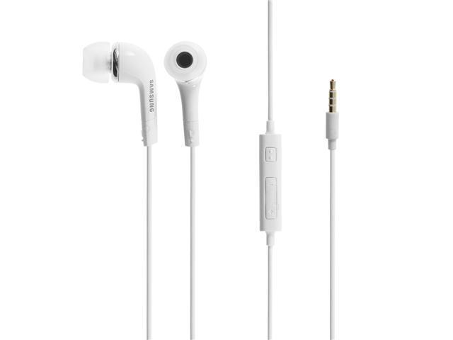 New OEM Samsung EHS64 White 3.mm Earphones Earbuds Headphones Headset with Remote and Mic (With Extra Eargels) For Samsung Galaxy S4 , S3 , S2 , 4G, Samsung Galaxy Tab Tablets , Galaxy Note 1/2