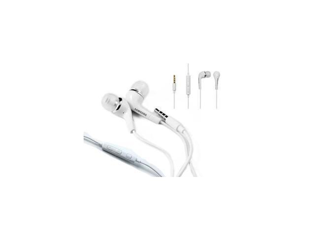 New OEM Samsung EHS64 White Earphones Earbuds Headphones Headset + Remote + Mic (With Extra Eargels) For SamsungFascinate, Epic 4G, Captivate,  Vibrant, Intercept, Restore, Reality, Mythic, Conquer 4G