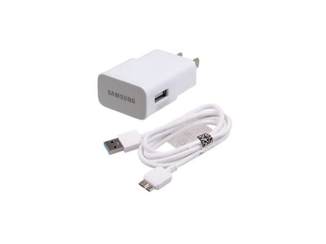 New Original Genuine OEM Samsung ETA-U90JWE White 2.0A / Amp High Power Home Wall Travel Adapter with New Samsung USB 3.0 Micro Charging Data Sync Cable for Samsung Galaxy Note 3