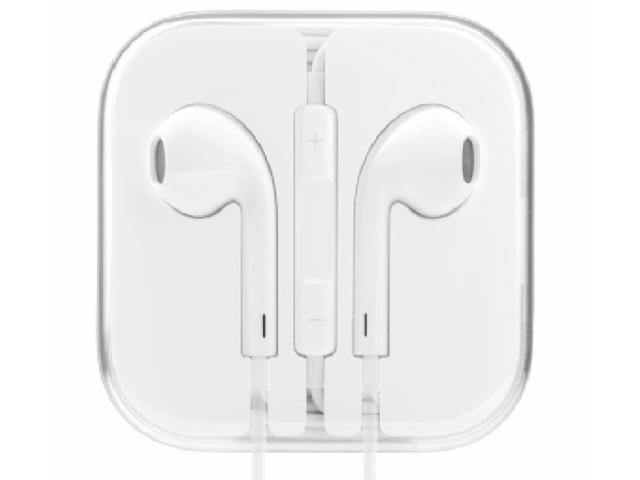 Lot of 2 New Original OEM White Apple 3.5mm Hands-Free Earpod Headset with Remote and Mic for All iPhone , iPad , iTouch , & iPod Models