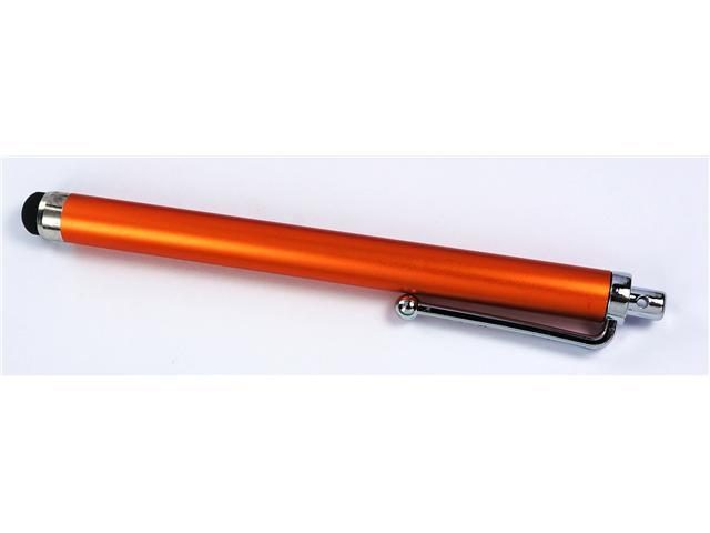 Universal 100% Aluminum Clippable Touch Screen Stylus Pen: Orange