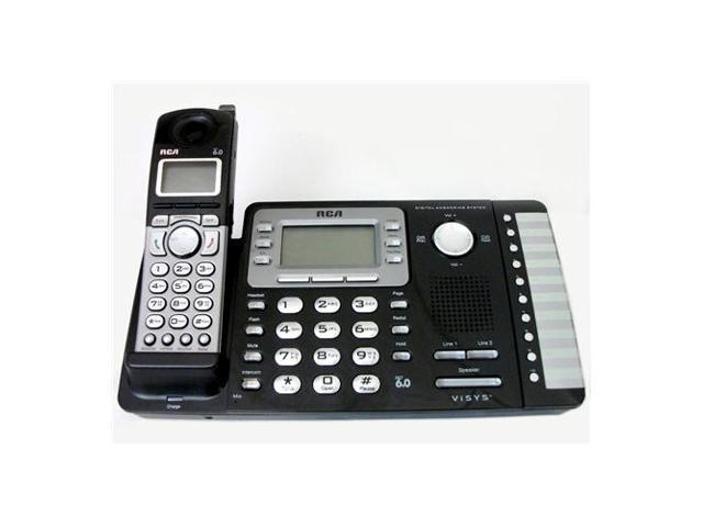 RCA 25252 Digital DECT 6.0 1X Handsets 2-Line Expandable Cordless Phone with Digital Answerer Integrated Answering Machine