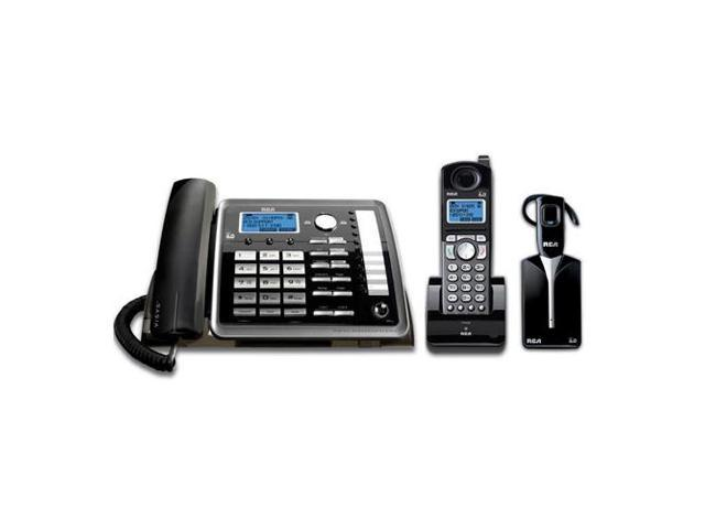 RCA 25270RE3 includes a 2-line corded base, DECT 6.0 cordless handset and DECT 6.0 wireless headset for hands (and wire) ...