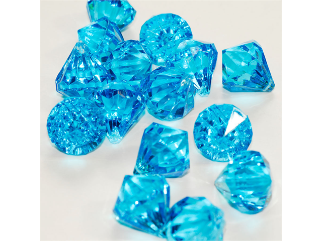 Acrylic Pendant 1 inch table scatter confetti Party decoration 104 pieces - Color: Turquoise
