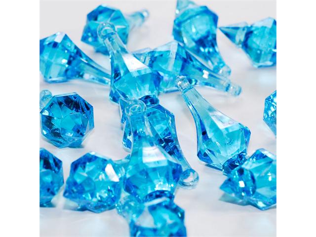 Acrylic Chandelier Drops Pendant 2 inch table scatter confetti decoration 1lb - Color: Turquoise