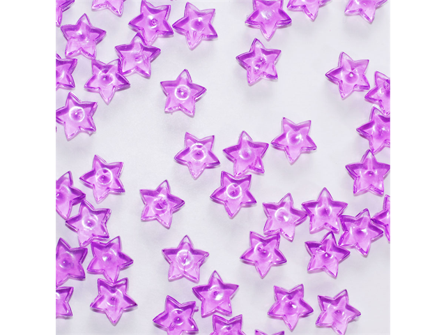 Acrylic Tiny Stars 1/2 Inch for Party or Craft Decorations 65 pieces - Color: Purple