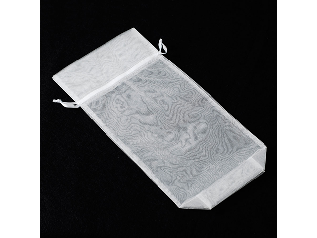 12pcs Organza Party Favor Bags or Pouches 6 x 14.5 inches - Color: White
