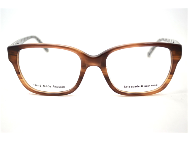Kate Spade Lina Eyeglasses-In Color-Toffee Black Octago (0X25)-Size-50/17/135
