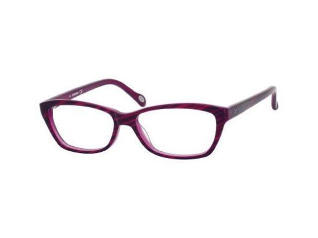 Fossil Sadie Eyeglasses-In Color-Dark Horn Violet (0JAM)-Size-51/14/135