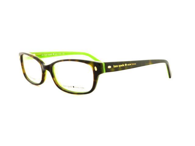 Kate Spade Lucyann Eyeglasses-In Color-Tortoise Kiwi-Size-49/16/135