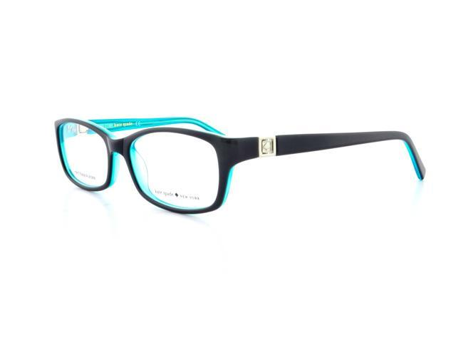 Kate Spade Regine Eyeglasses-In Color-Black Aqua-Size-50/16/130