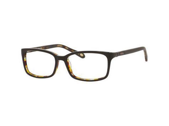 FOSSIL Eyeglasses GREY 0QYZ Brown Havana 52MM