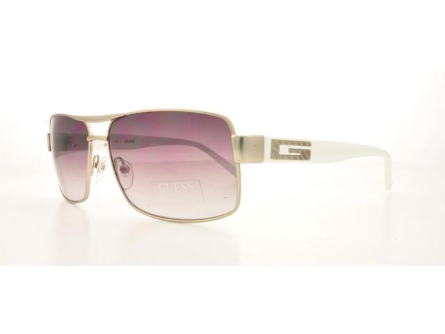 GUESS Sunglasses GU 6698 Satin Silver 61MM