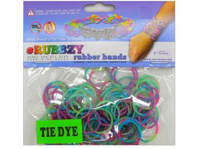 Rubbzy 100 pc Special Edition Tie Dye/Glitter Rubber Bands (#234)