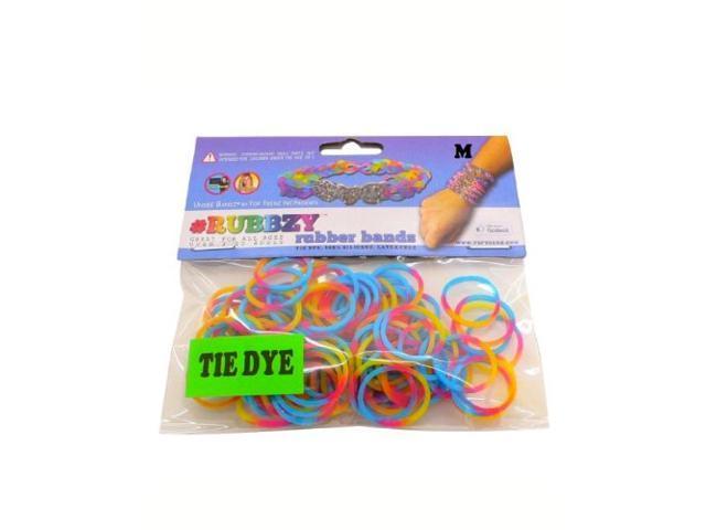 Rubbzy 100 pc Tie Dye Rubber Bands w/ 4 Connectors (#968)