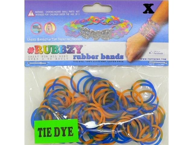Rubbzy 100 pc Tie Dye Rubber Bands w/ 4 Connectors (#791)