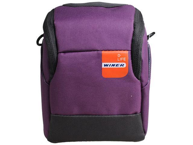 Winer Vita Big Size Camera Belt Case Bag S25 for Small DC M3/M4 System, Panasonic GF Series, Sony NEX Series, (S25-Purple)