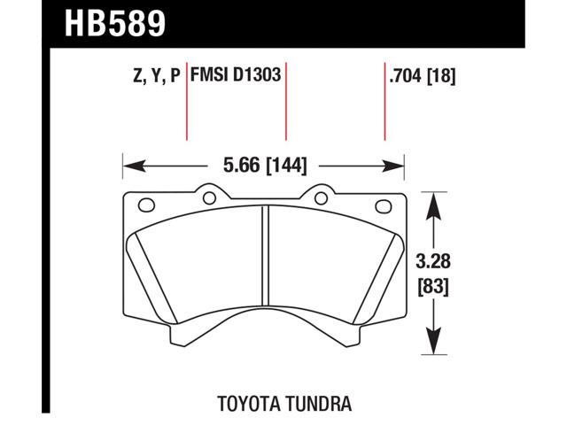 Hawk Performance HB589P.704 Disc Brake Pad
