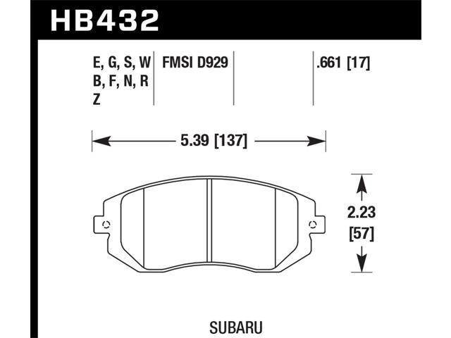 Hawk Performance HB432F.661 Disc Brake Pad