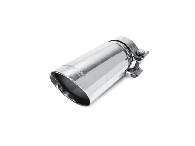 Magnaflow Performance Exhaust 35211 Stainless Steel Exhaust Tip; 3.5 in. Round; Clamp-On; Double Wall Tip; w/Clamp; Fits 2.75-3 in. Tail Pipe; Polished;
