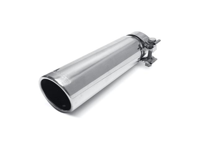 Magnaflow Performance Exhaust 35208 Stainless Steel Exhaust Tip; 3 in. Round; Clamp-On; Single Wall Tip; w/Clamp; Fits 2.25-2.5 in. Tail Pipe;