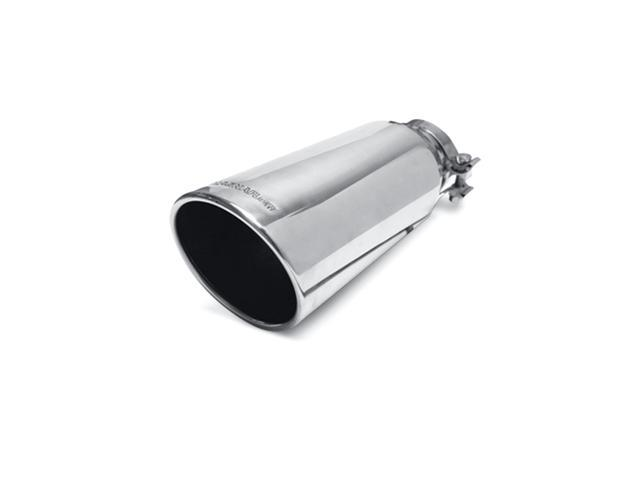 Magnaflow Performance Exhaust 35214 Stainless Steel Exhaust Tip; 5 in. Round; Clamp-On; Single Wall Tip; w/Clamp; Fits 4 in. Tail Pipe; Polished;
