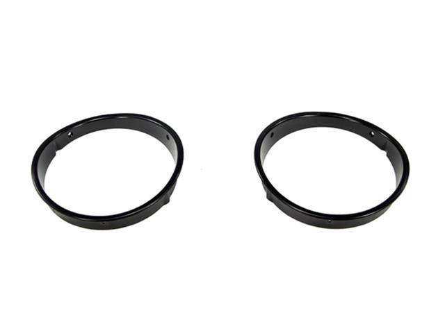 Rugged Ridge 12419.23 Black Headlight Bezels, 97-06 Jeep Wrangler