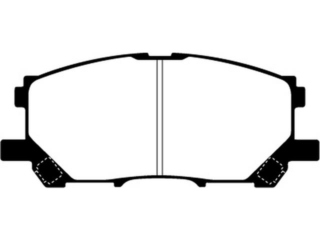 EBC Brakes DP71681 EBC 7000 Series Greenstuff SUV Supreme Compound Disc Pads