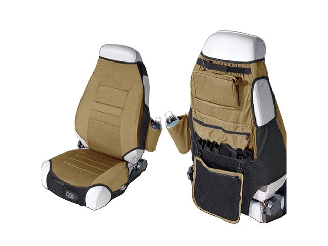 Rugged Ridge 13235.37 Neoprene Seat Protector Vests, Spice, 76-06 Jeep CJ And Wrangler