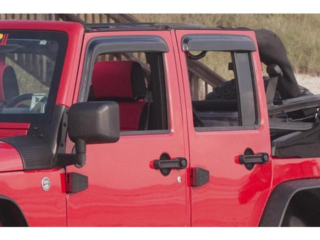 Rugged Ridge 11351.10 Window Rain Deflectors, 97-06 Jeep Wrangler