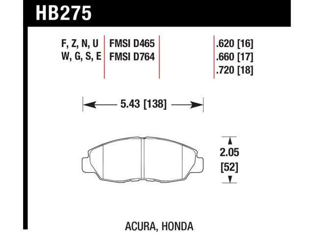 Hawk Performance HB275F.620 Disc Brake Pad