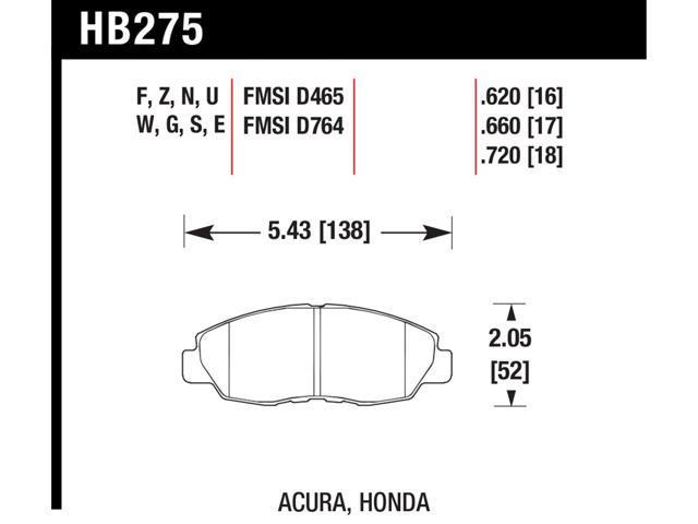 Hawk Performance HB275F.620 Disc Brake Pad