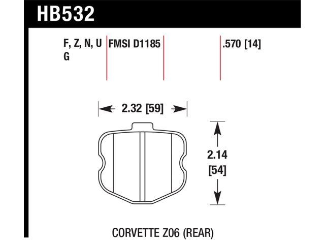 Hawk Performance HB532F.570 Disc Brake Pad