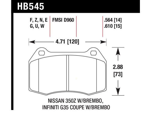 Hawk Performance HB545Z.564 Disc Brake Pad