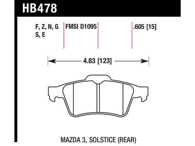Hawk Performance HB478F.605 Disc Brake Pad