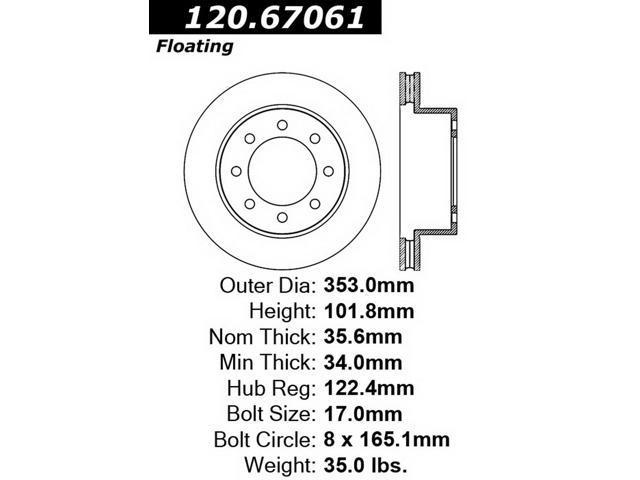 StopTech 126.67061SR StopTech Sport Rotors Fits 03-08 Ram 2500 Ram 3500