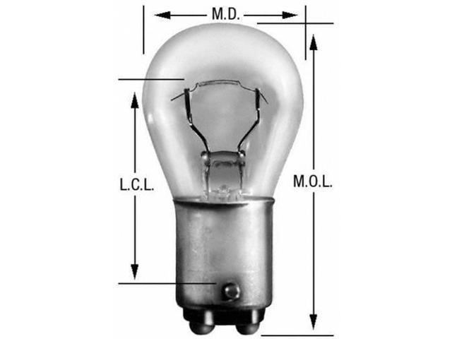 Wagner Lighting 1076 Back Up Light Bulb - Miniature Lamp - Boxed