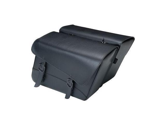 Dowco - 59589-00 - Black Jack Large Slant Saddlebag, 16in. x 11in. x 6.5in.