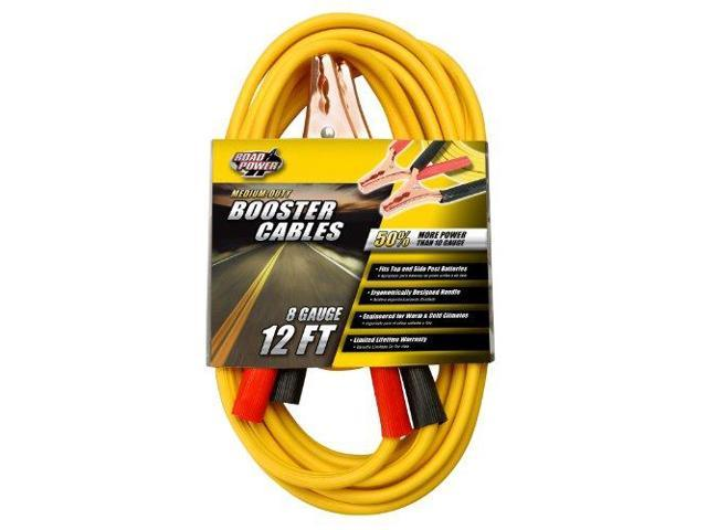 Coleman Cable 08435 Yellow 12' 200-Amp 8-Gauge Booster Cable Clamp