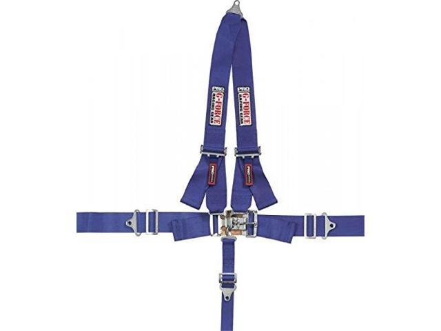 G-Force 6020Bu Blue 4-Point Pull-Down Latch And Link V-Type Harness Set