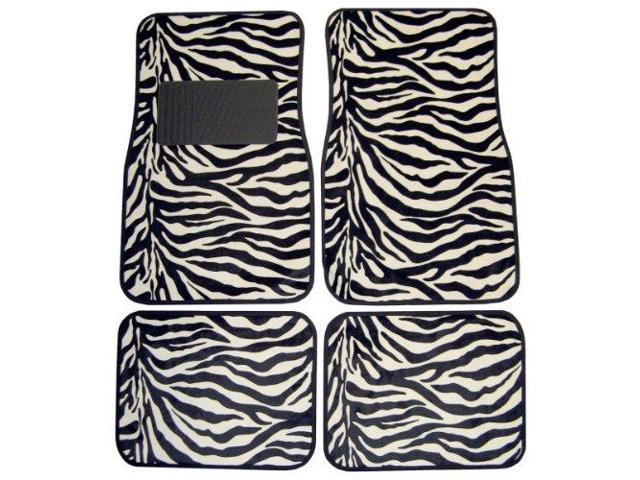 Plasticolor 001441R01 Floor Mats Zebra Wild Skn